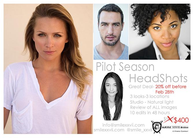 Pilot Season Headshots - SMILE XXVII Studios